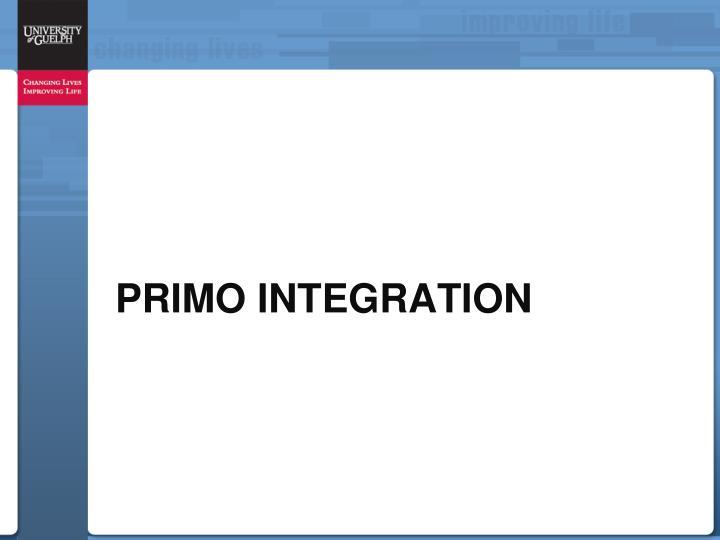 Primo Integration
