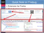 quick note on firebug