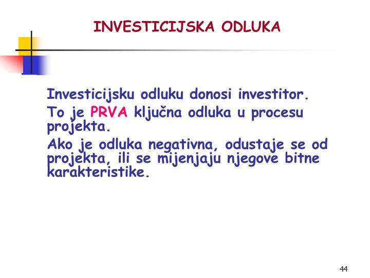 INVESTICIJSKA ODLUKA