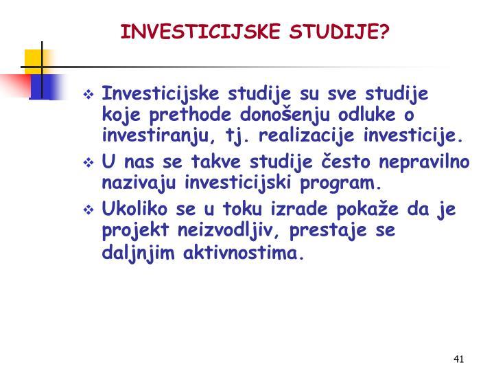 INVESTICIJSKE