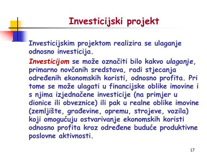 Investicijski projekt