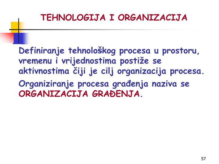 TEHNOLOGIJA I ORGANIZACIJA