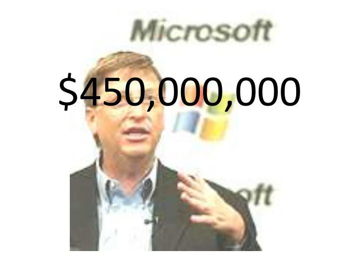 $450,000,000