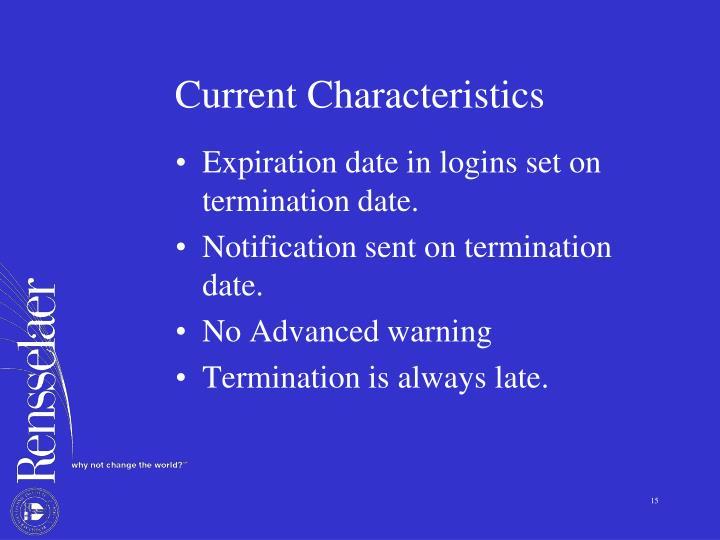 Current Characteristics