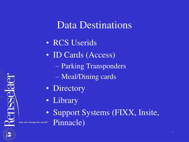 Data Destinations