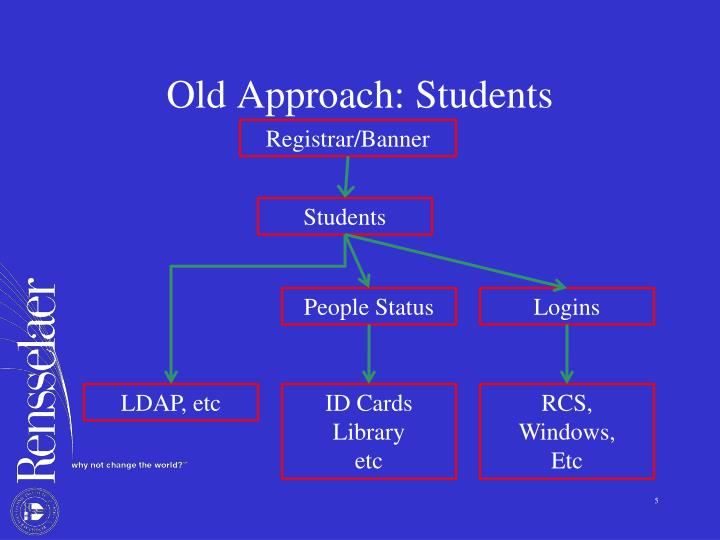 Old Approach: Students