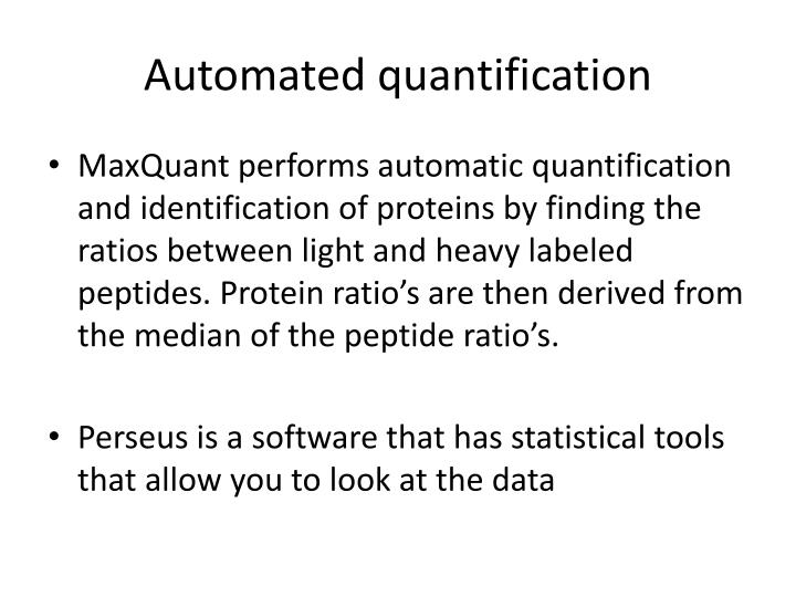 Automated quantification