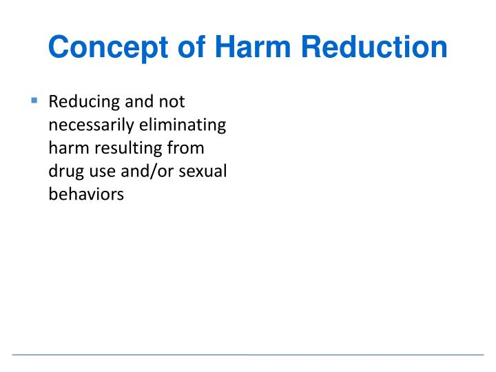 Concept of Harm Reduction