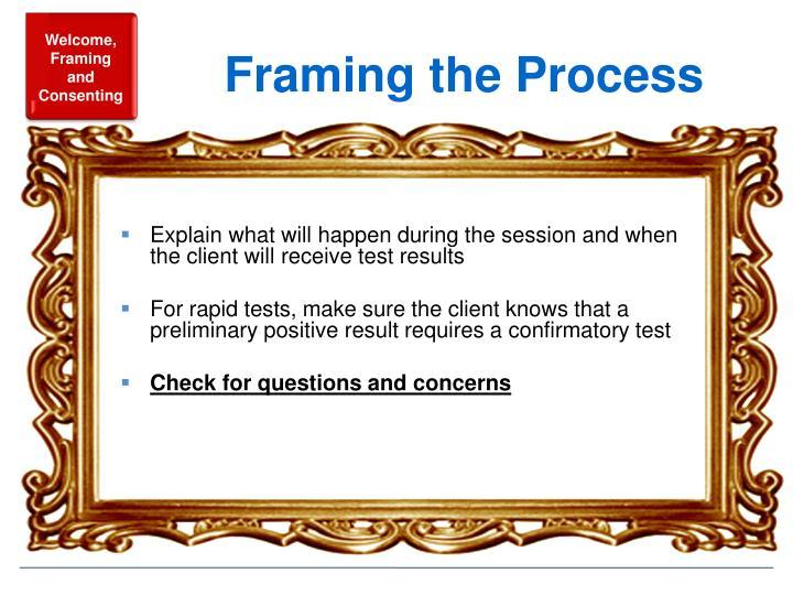 Framing the Process