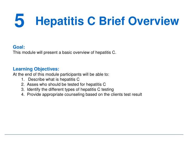Hepatitis C Brief Overview