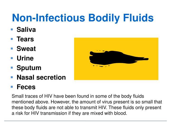 Non-Infectious Bodily Fluids