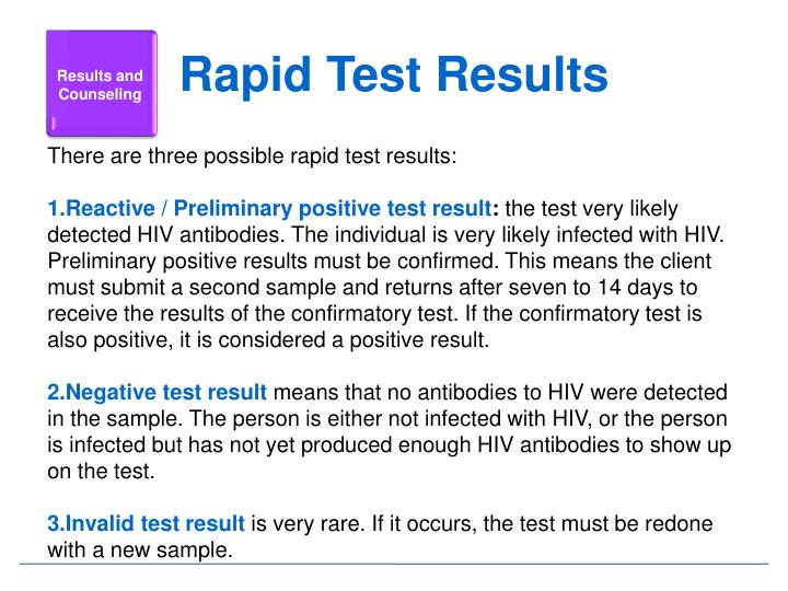 Rapid Test Results