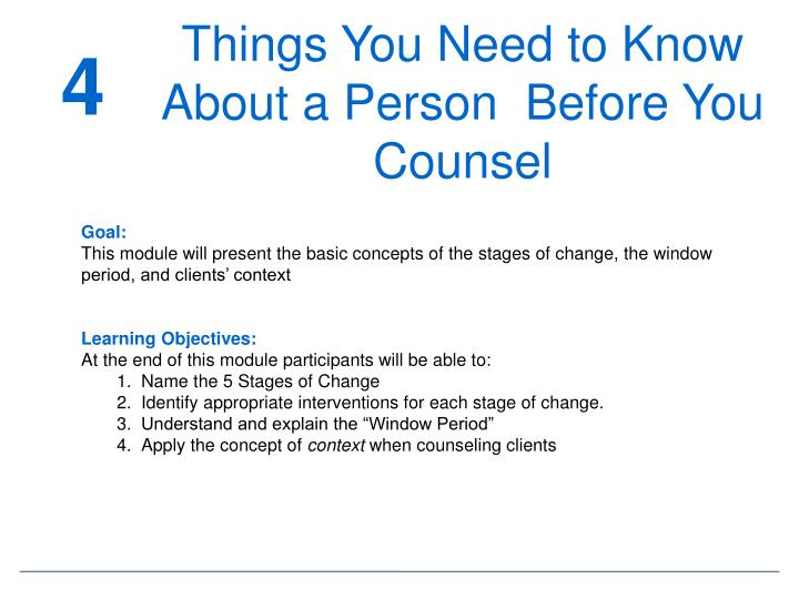 Things You Need to Know About a Person  Before You Counsel