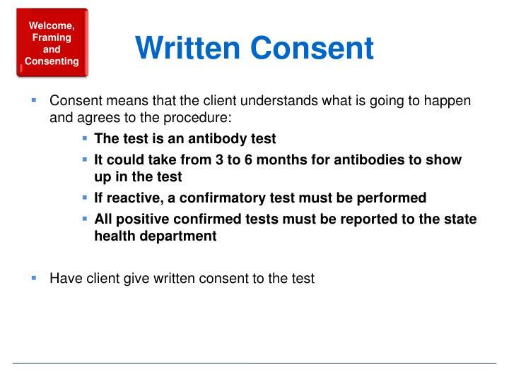 Written Consent