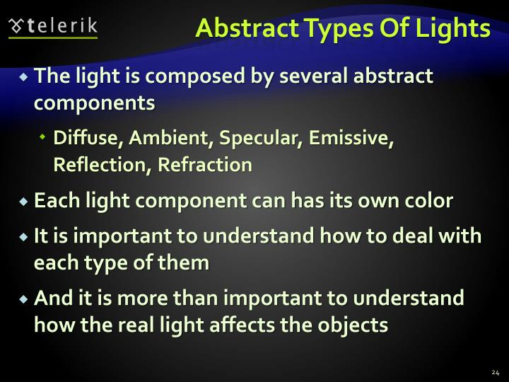 Abstract Types Of Lights