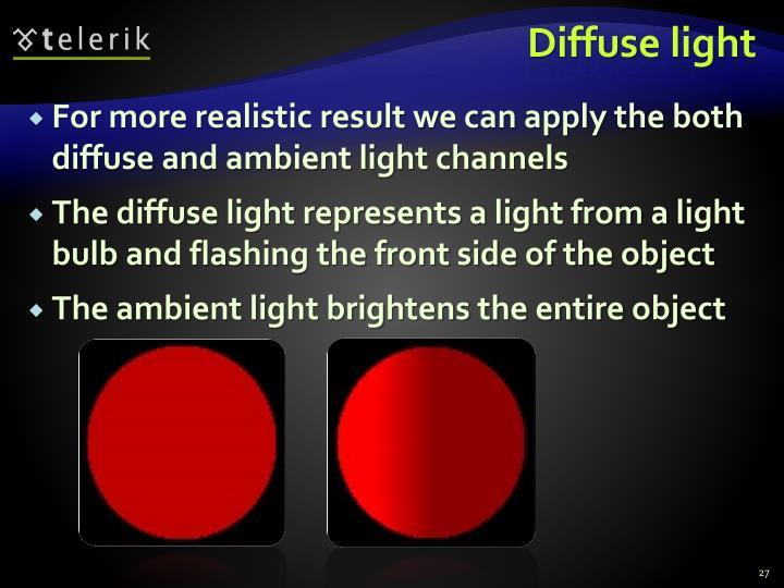 Diffuse light