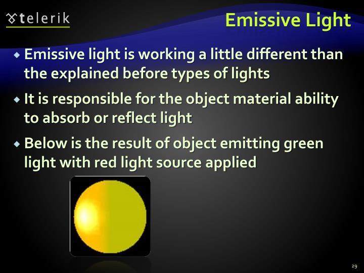 Emissive Light
