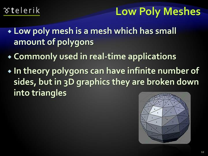 Low Poly Meshes