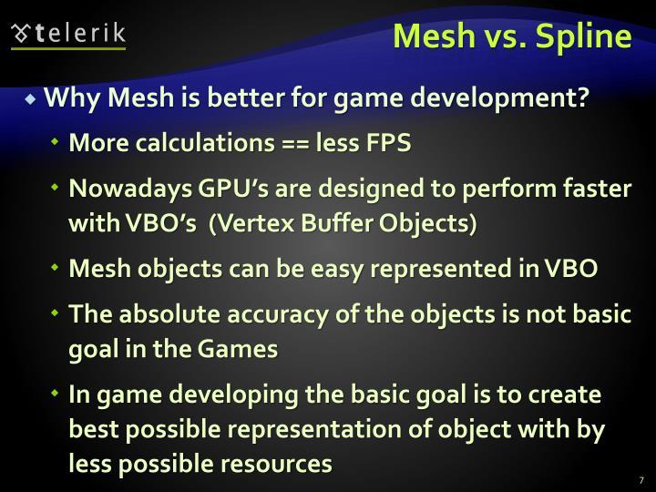 Mesh vs. Spline