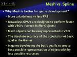 mesh vs spline