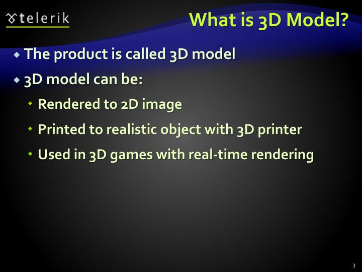What is 3d model