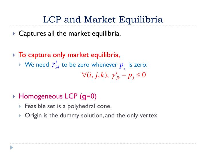 LCP and Market
