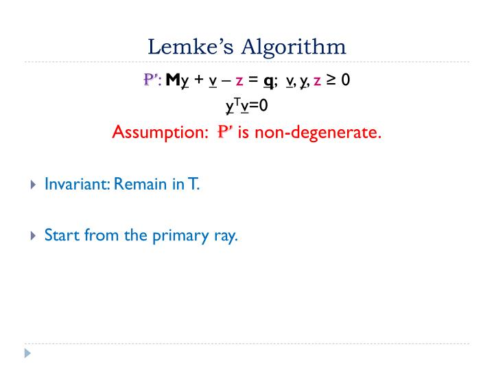Lemke's Algorithm