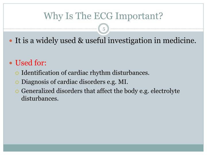 Why Is The ECG Important?