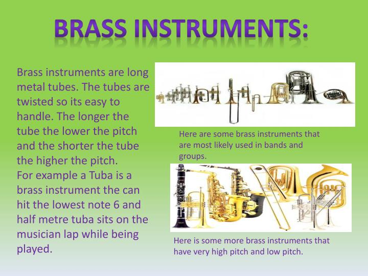 Brass instruments: