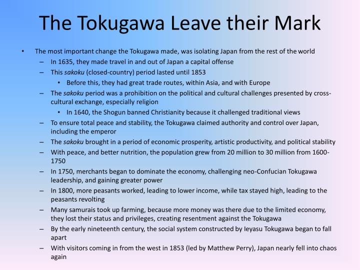 The Tokugawa Leave their Mark