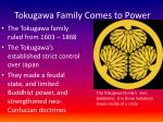 tokugawa family comes to power