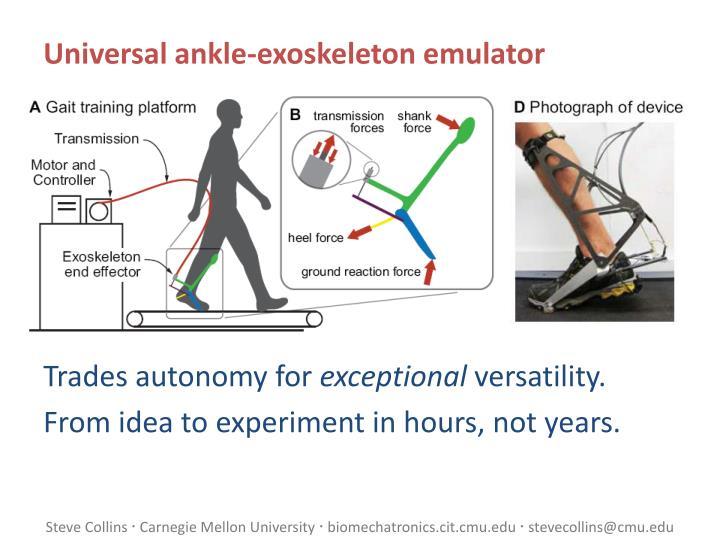 Universal ankle-exoskeleton emulator