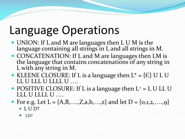 Language Operations