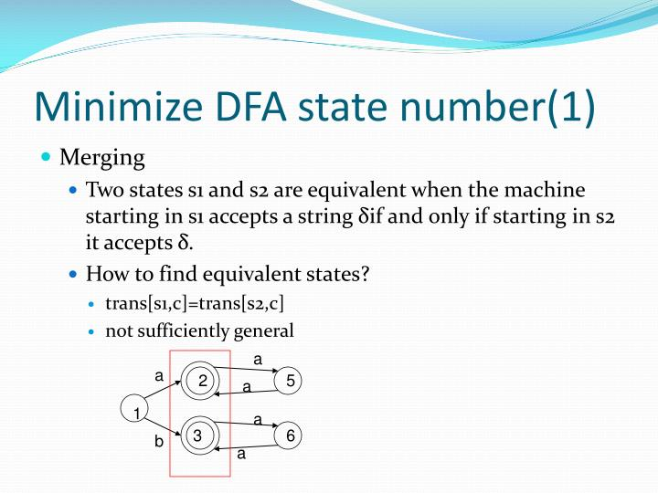 Minimize DFA state number(1)