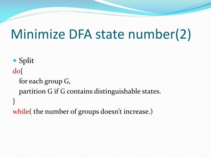 Minimize DFA state number(2)