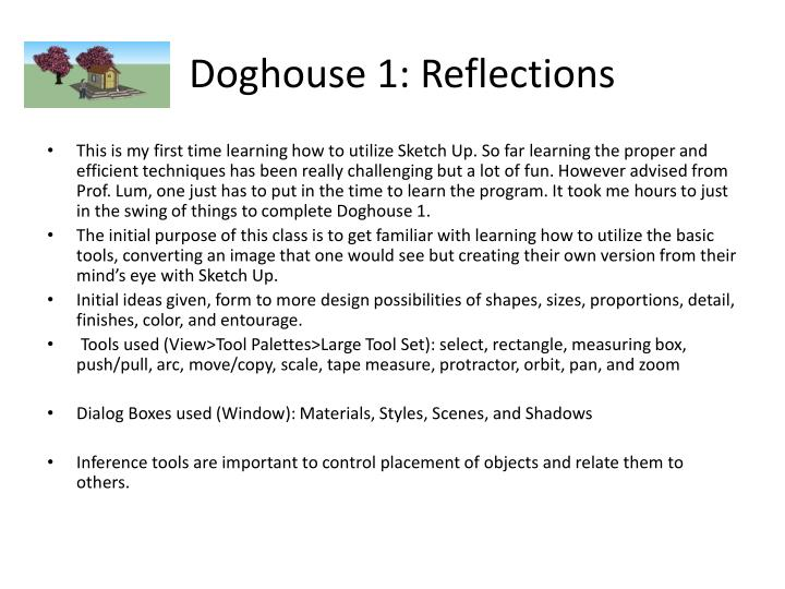 Doghouse 1: Reflections