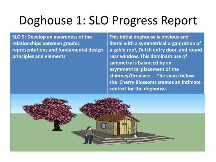 Doghouse 1: SLO Progress Report
