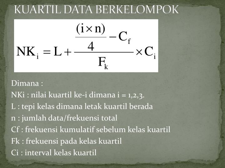 KUARTIL DATA BERKELOMPOK