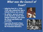 what was the council of trent1
