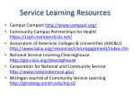 service learning resources