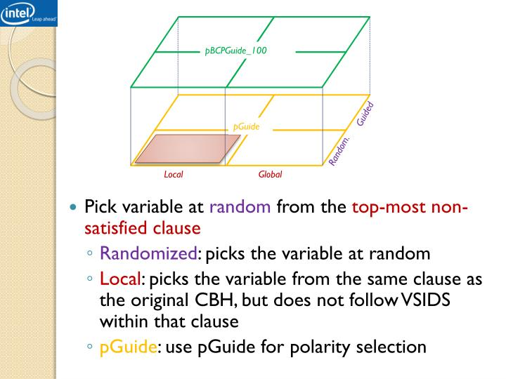 Pick variable at