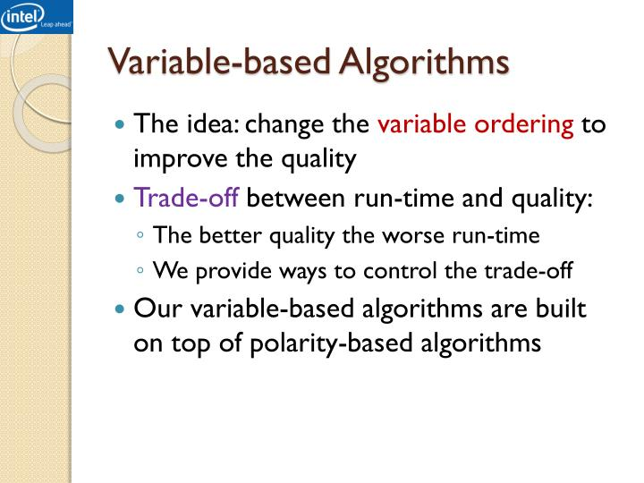 Variable-based Algorithms