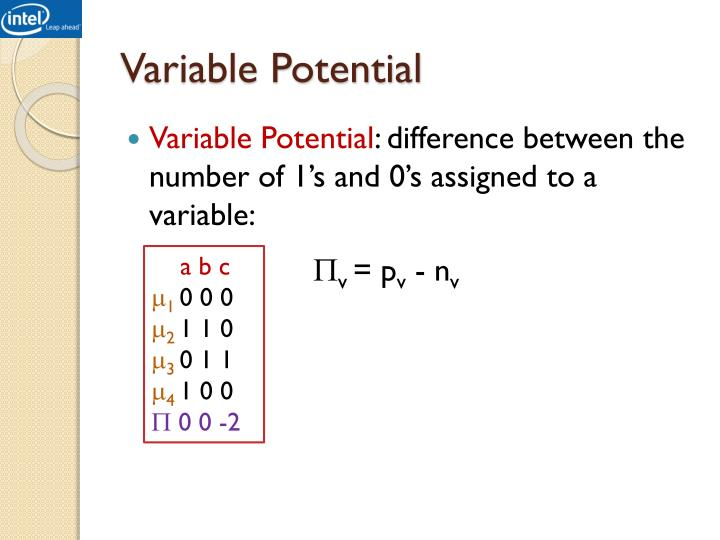 Variable Potential