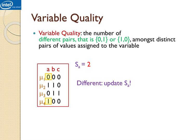 Variable Quality