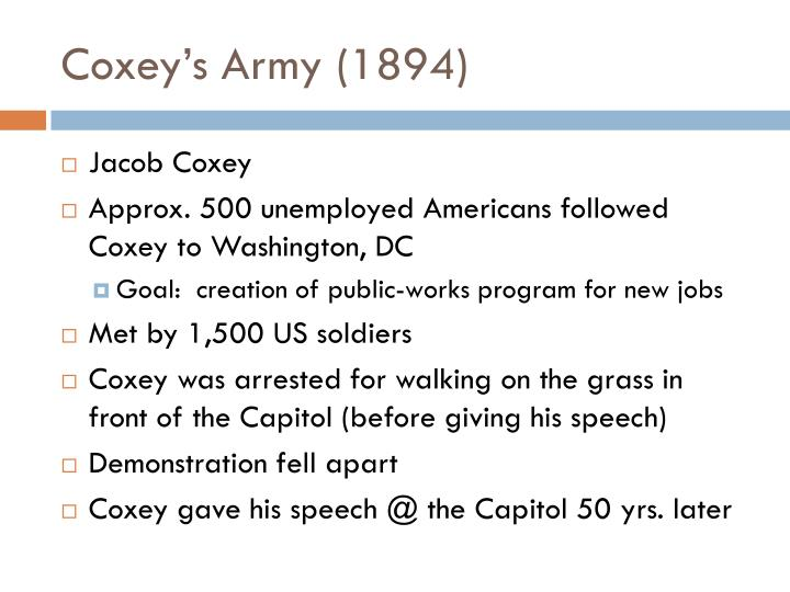 Coxey's Army (1894)