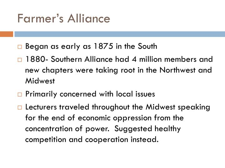 Farmer's Alliance