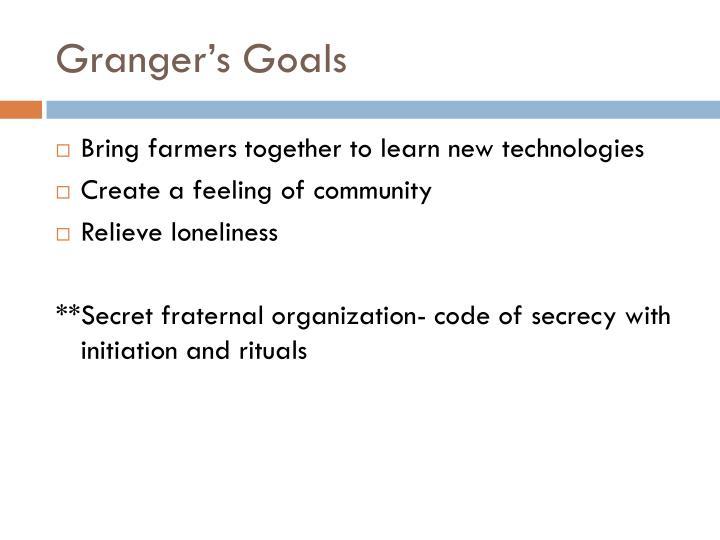 Granger's Goals