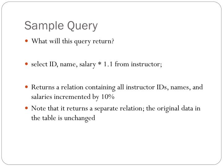 Sample Query