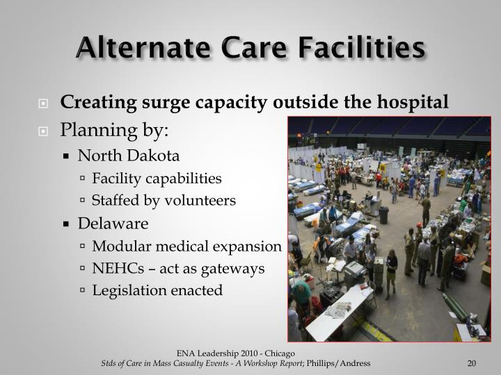 Alternate Care Facilities