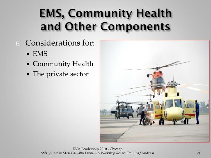 EMS, Community Health                        and Other Components